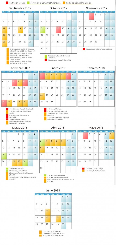 Calendario escolar 2017-2018 (academia estudi)